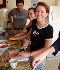 a photo students taking cooking class