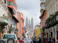 photo of old city street in Quito