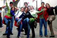 a photo students touring Quito in Quito Active Program