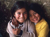 photo of smiling girls from Ecuador